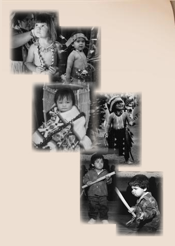 Native American children in regalia